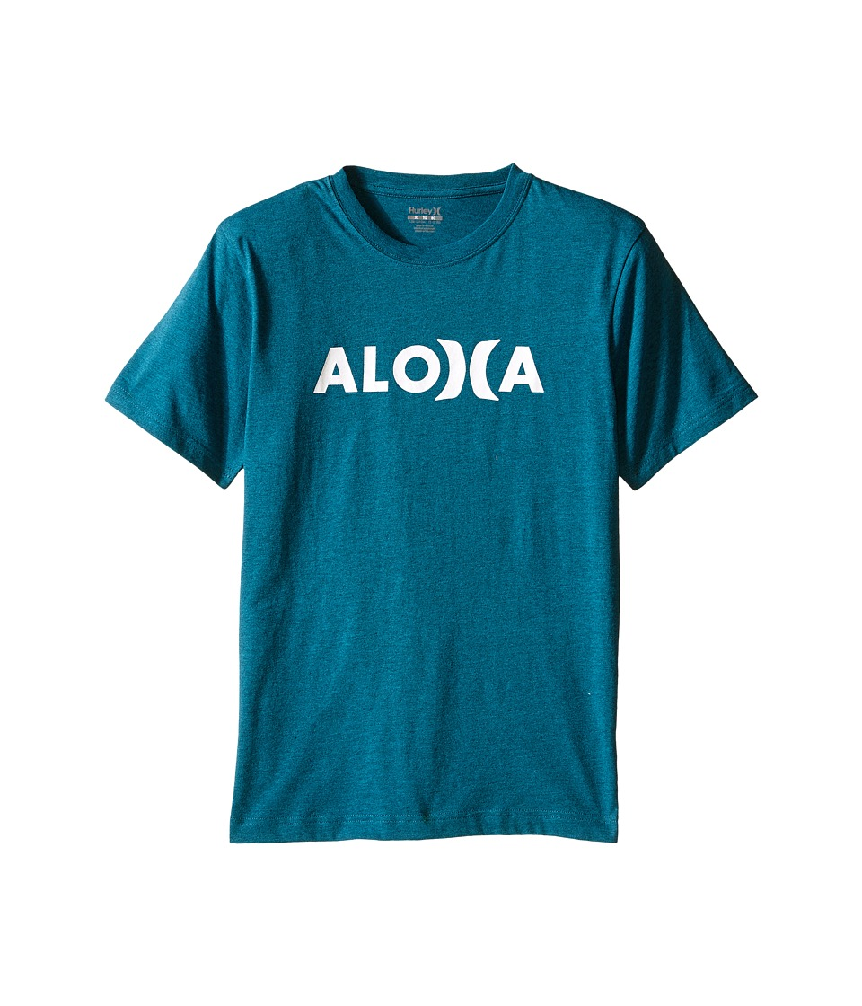 Hurley Kids Aloha Tee Big Kids Turbo Green Heather Boys T Shirt
