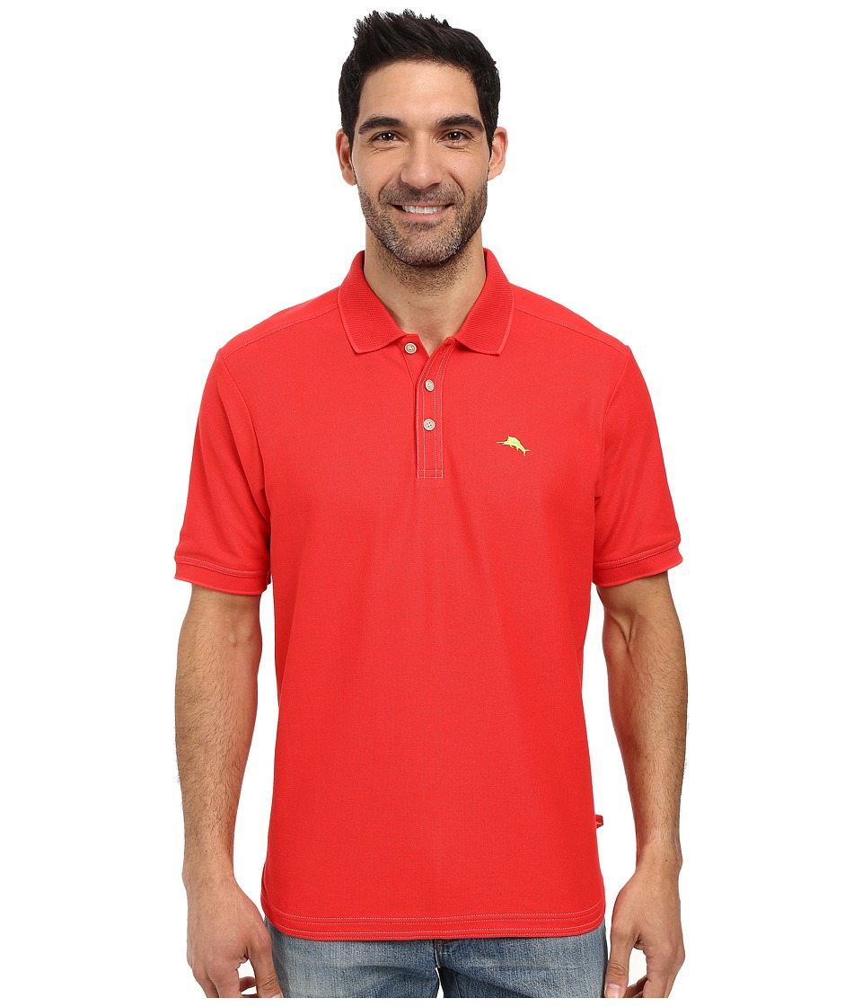 Tommy Bahama - The Emfielder Polo Shirt (Red Cherry) Mens Short Sleeve Pullover