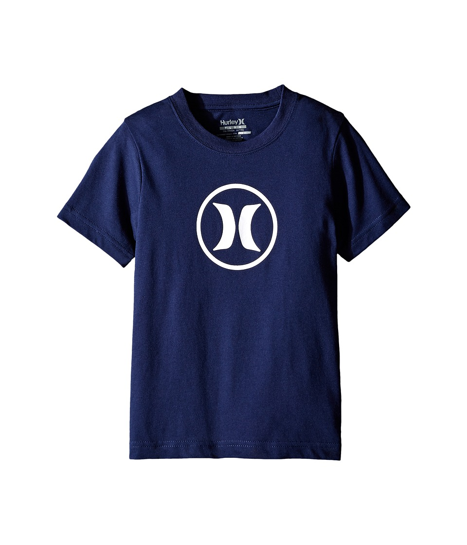 Hurley Kids Dri Fit Icon Tee (Little Kids) (Midnight Navy) Boy