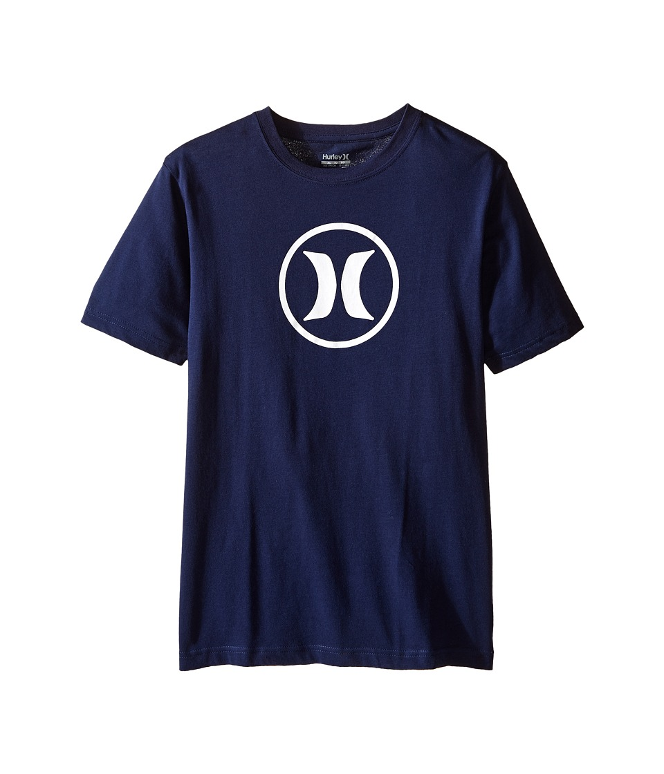 Hurley Kids Dri Fit Icon Tee (Big kids) (Midnight Navy) Boy