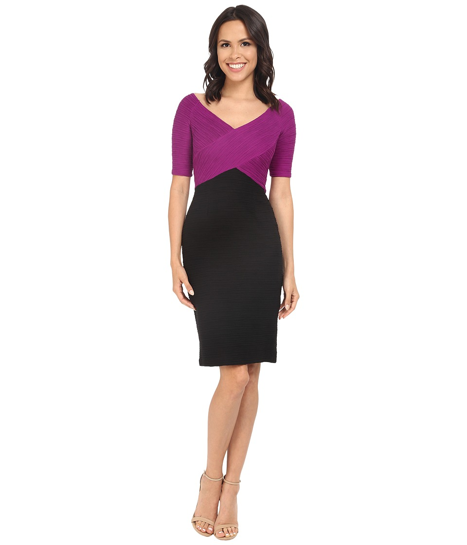 NUE by Shani Color Blocking Knit Dress Black/Berry Womens Dress