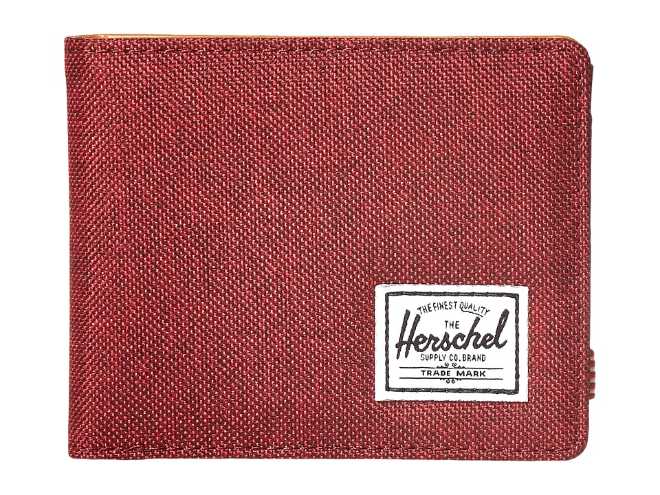 Herschel Supply Co. - Hank (Winetasting Crosshatch/Tan Synthetic Leather) Wallet Handbags