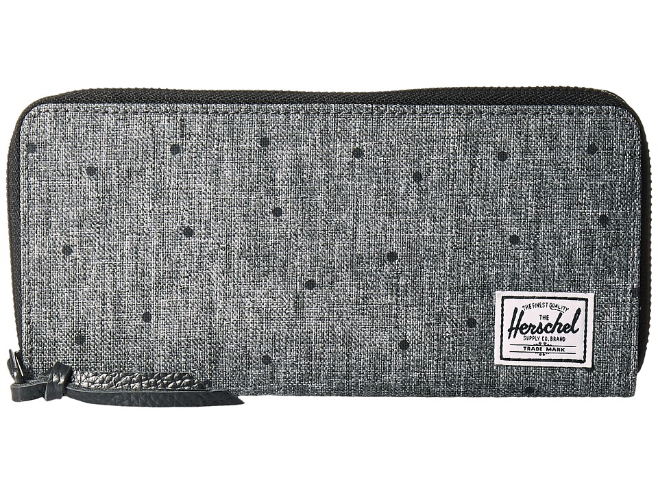 Herschel Supply Co. - Avenue with Zipper (Scattered Raven Crosshatch) Wallet Handbags