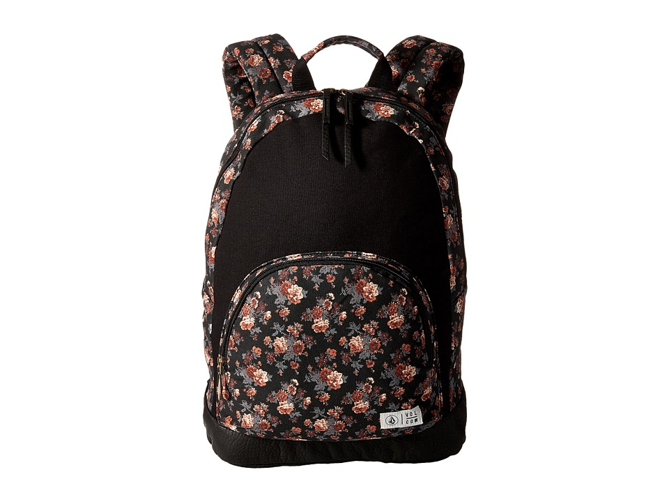 Volcom - School Yard Canvas Backpack (Black) Backpack Bags