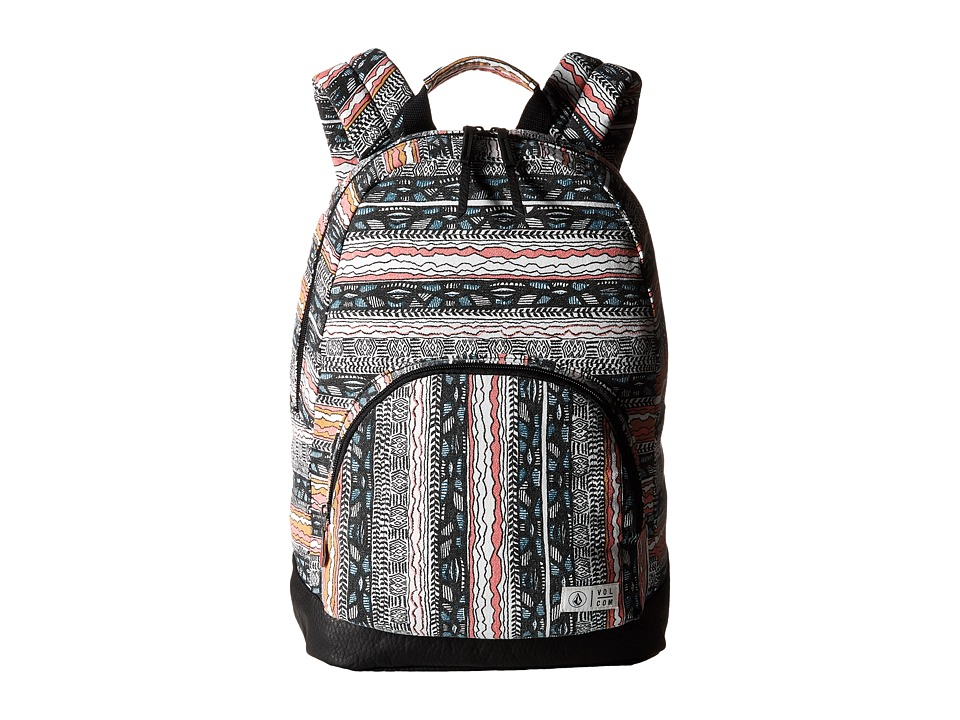 Volcom - School Yard Canvas Backpack (Neon Pink) Backpack Bags
