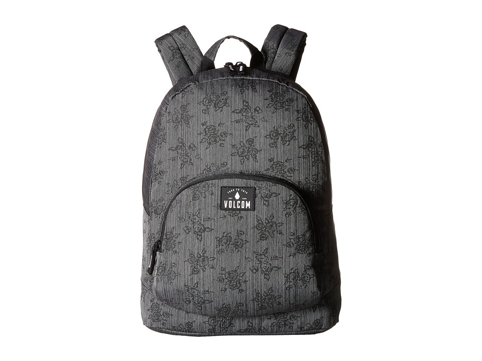 Volcom - Schoolyard Poly Backpack (Black On Black) Backpack Bags