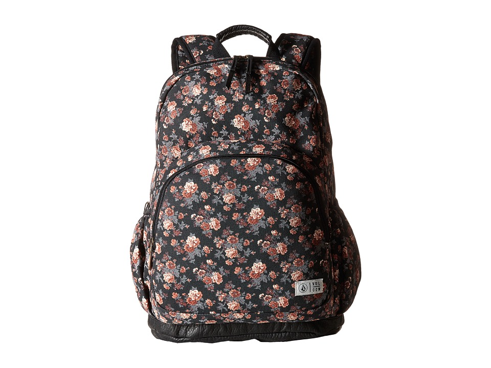 Volcom - Fieldtrip Canvas Backpack (Black 1) Backpack Bags
