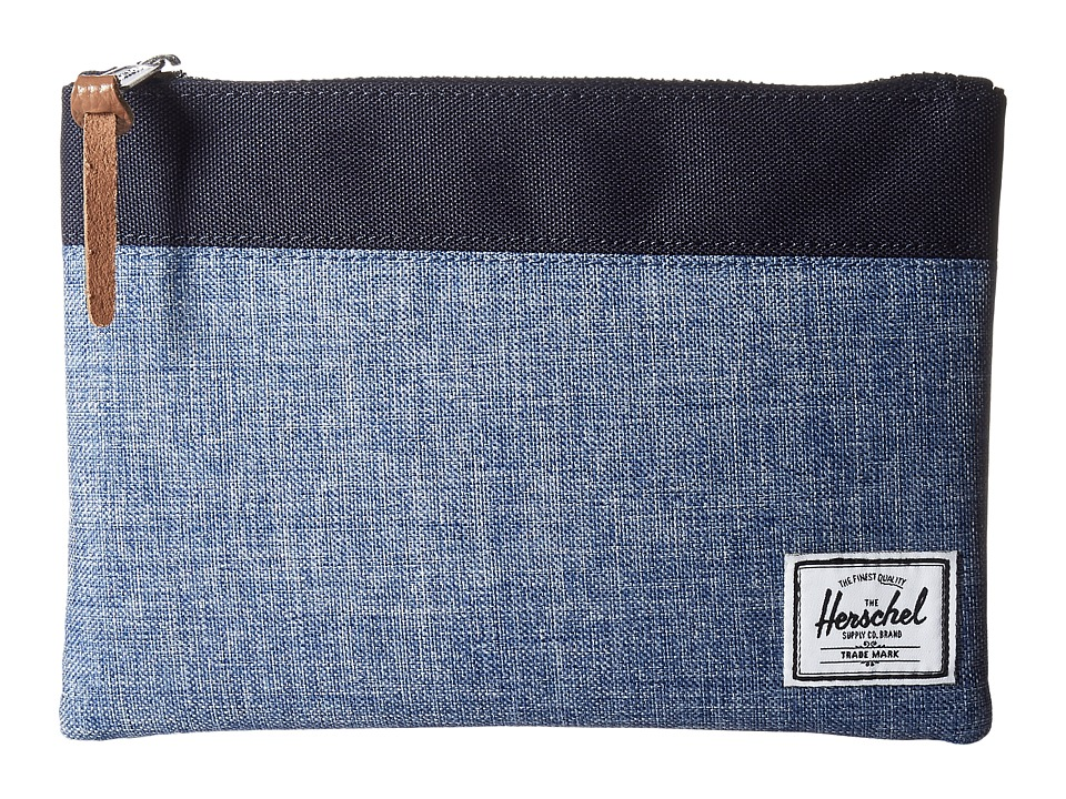 Herschel Supply Co. - Field Pouch (Limoges Crosshatch/Peacoat) Travel Pouch
