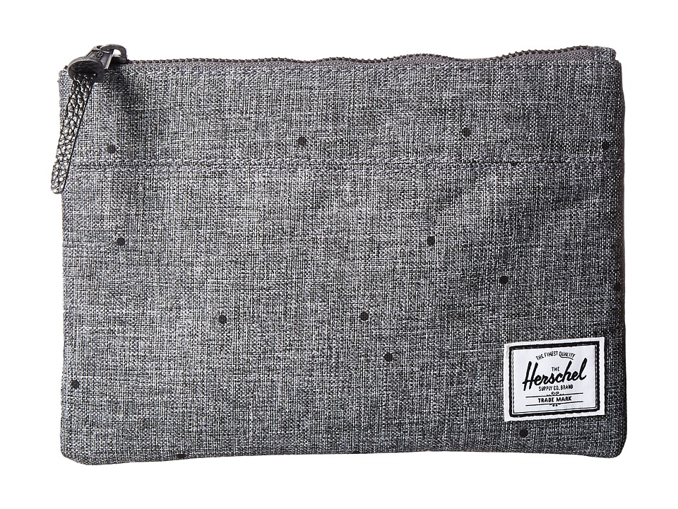 Herschel Supply Co. - Field Pouch (Scattered Raven Crosshatch) Travel Pouch