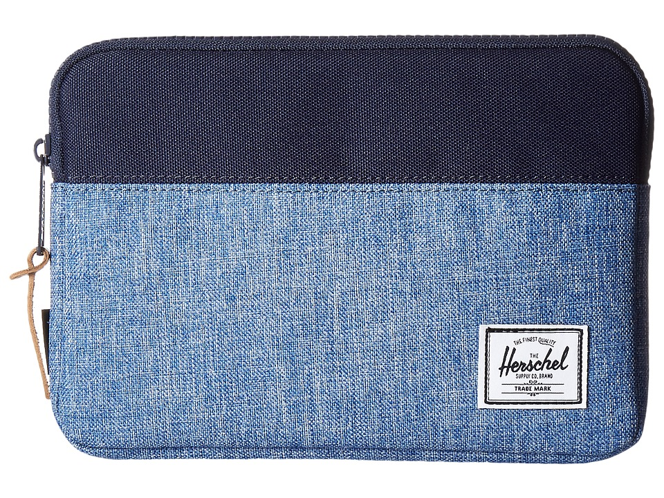 Herschel Supply Co. - Anchor Sleeve for iPad Mini (Limoges Crosshatch/Peacoat) Computer Bags
