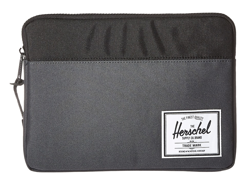 Herschel Supply Co. - Anchor Sleeve for iPad Air (Dark Shadow/Black) Computer Bags
