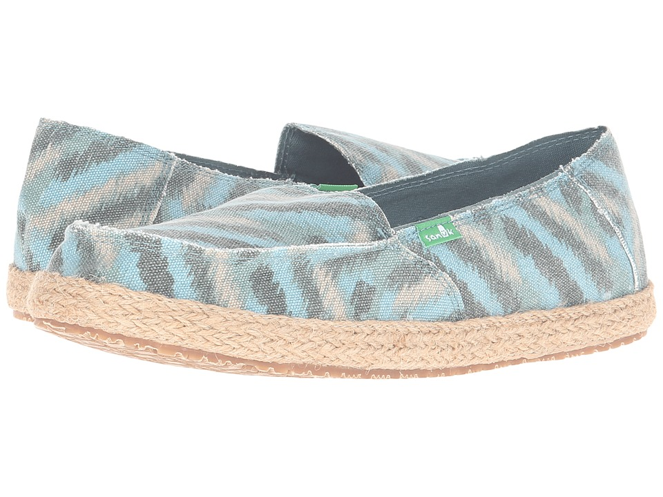 Sanuk - Funky Fiona (Dusty Teal Zigzag) Women
