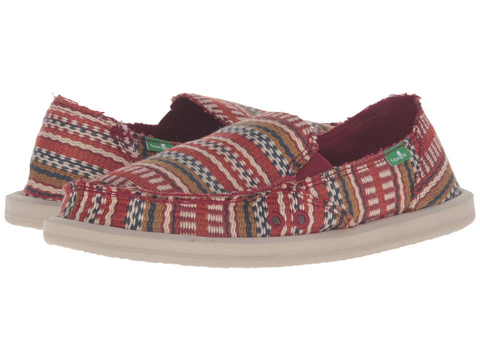 Sanuk - Donna Blanket (Burgundy Bayridge Blanket) Women