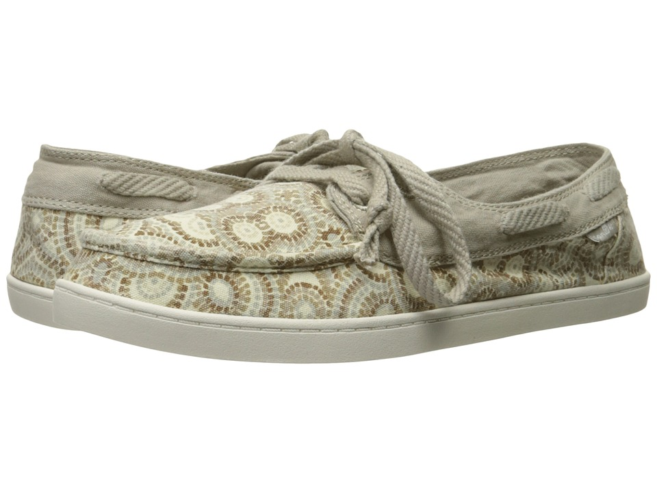 Sanuk - Pair O Sail Prints (Natural Multi Radio Love) Women