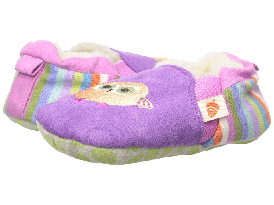 Acorn Kids Easy-On Moc (Infant/Toddler) (Purple Owl) Kids Shoes