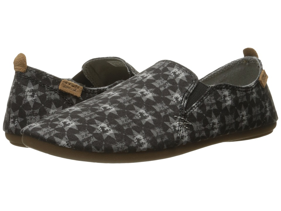 Sanuk - Isabel Prints (Washed Black Brooklyn Tile) Women