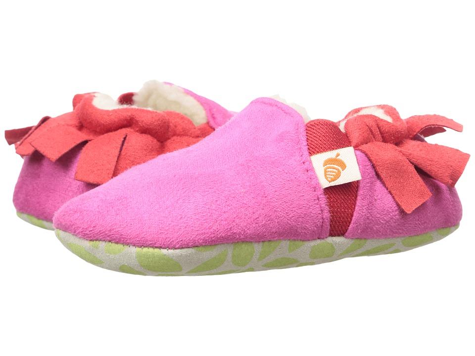 Acorn Kids Easy-On Moc (Infant/Toddler) (Magenta Fringe) Girls Shoes