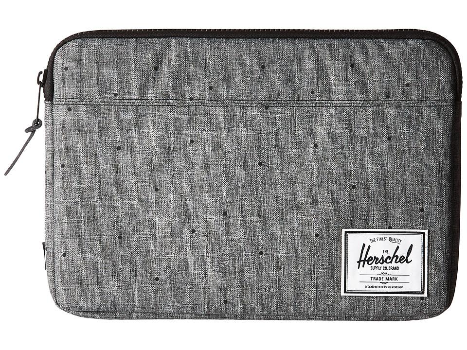 Herschel Supply Co. Anchor Sleeve 13 (Scattered Raven Crosshatch) Computer Bags