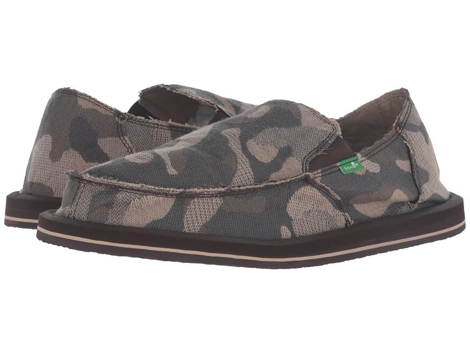 Sanuk Vagabond Camo (Smoke Camo) Men's Slip on  Shoes