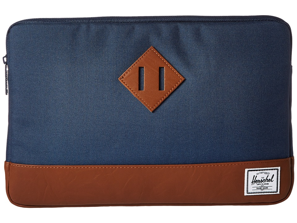 Herschel Supply Co. Heritage Sleeve for 12inch MacBook (Navvy/Tan Synthetic Leather) Computer Bags