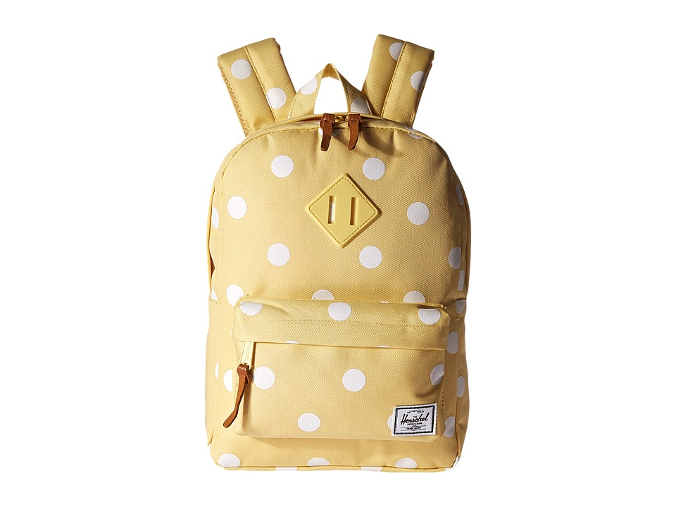 Herschel Supply Co. - Heritage Kids (Little Kids/Big Kids) (Popcorn/Natural Polka Dots/Popcorn Rubber) Backpack Bags