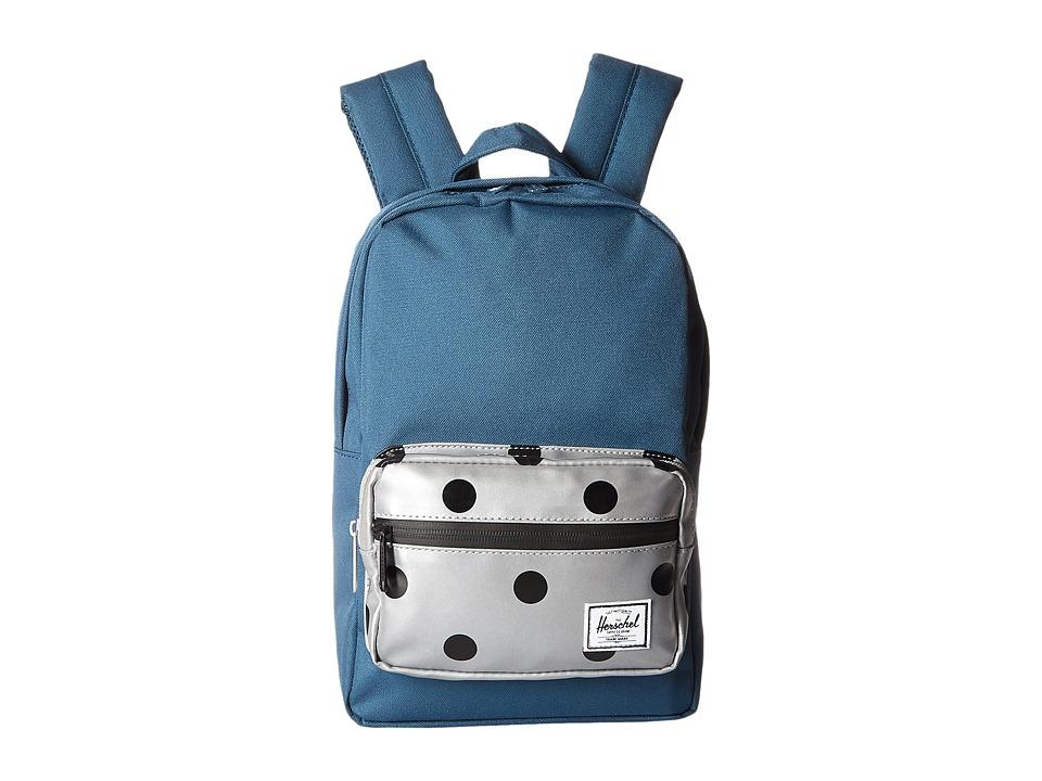 Herschel Supply Co. - Pop Quiz Kids (Indian Teal/Grey 3M Polka Dot) Backpack Bags