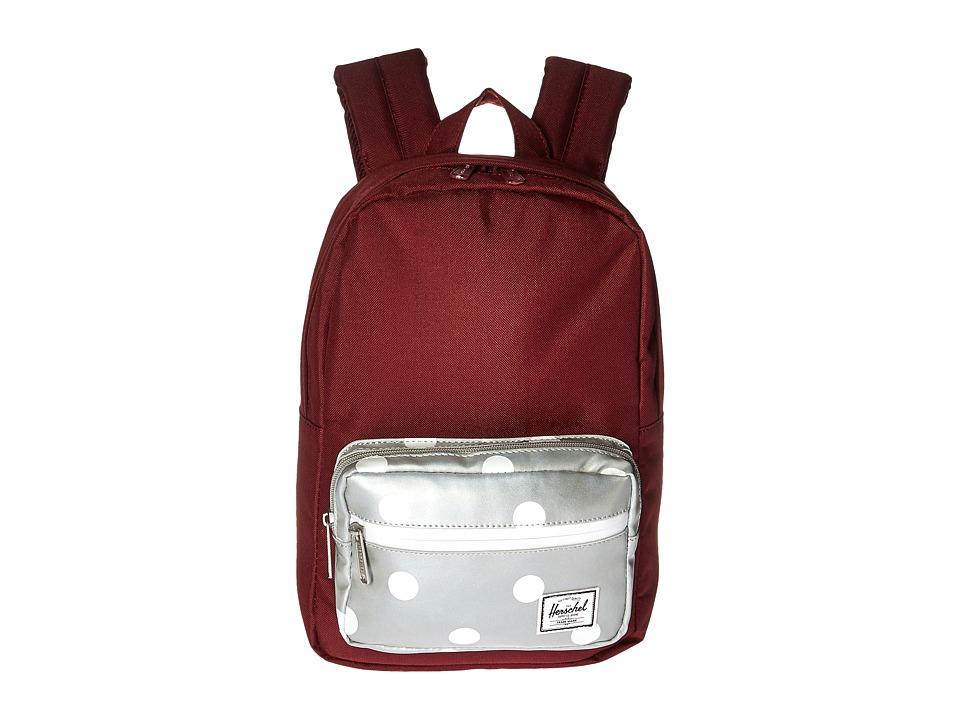 Herschel Supply Co. - Pop Quiz Kids (Windsor Wine/Grey 3M Polka Dots) Backpack Bags
