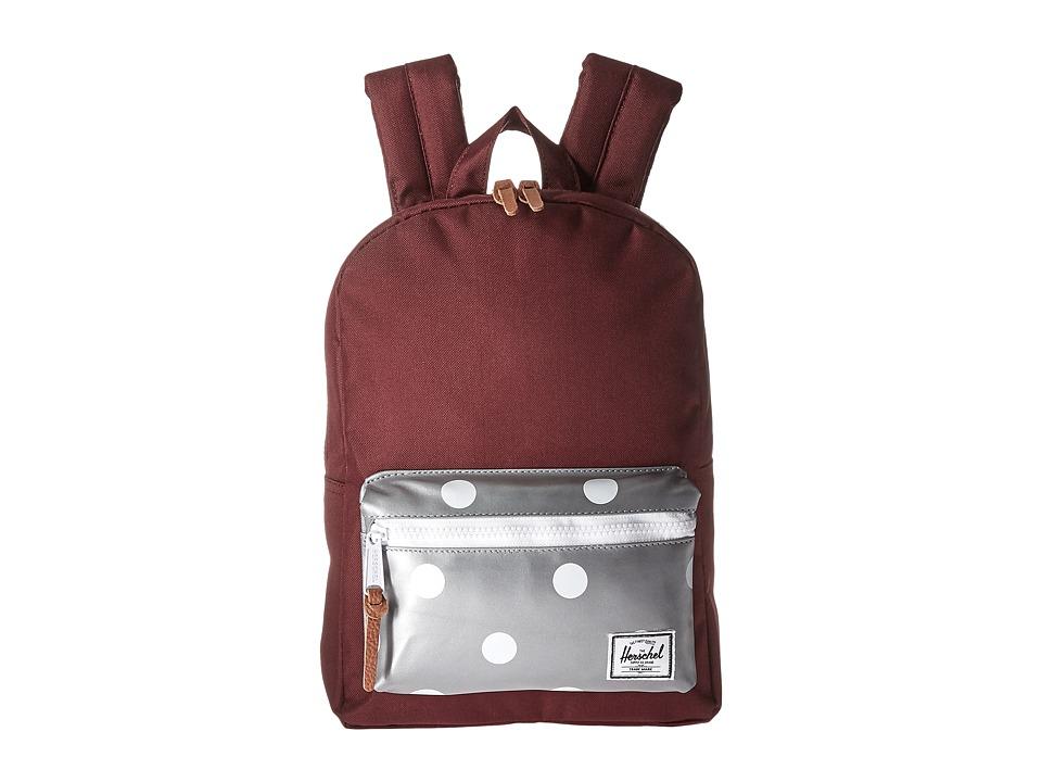Herschel Supply Co. - Settlement Kids (Little Kids/Big Kids) (Windsor Wine/Grey 3M Polka Dots) Backpack Bags