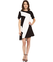 Donna Morgan - Short Sleeve Charmeuse High-Low Trapeze
