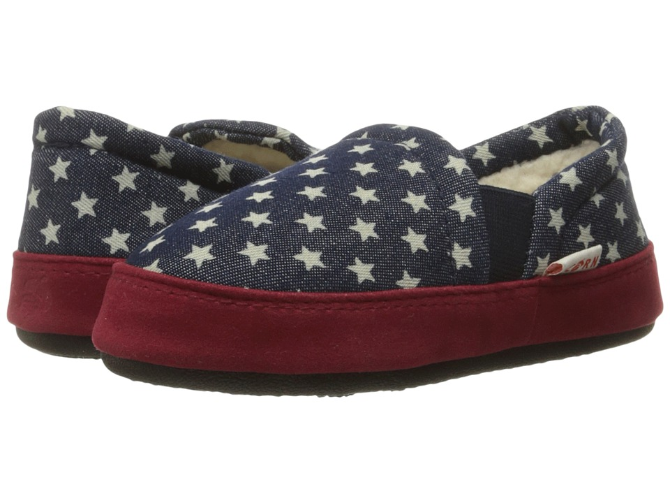 Image of Acorn Kids - Colby Gore Moc (Toddler/Little Kid/Big Kid) (Navy Stars) Kids Shoes