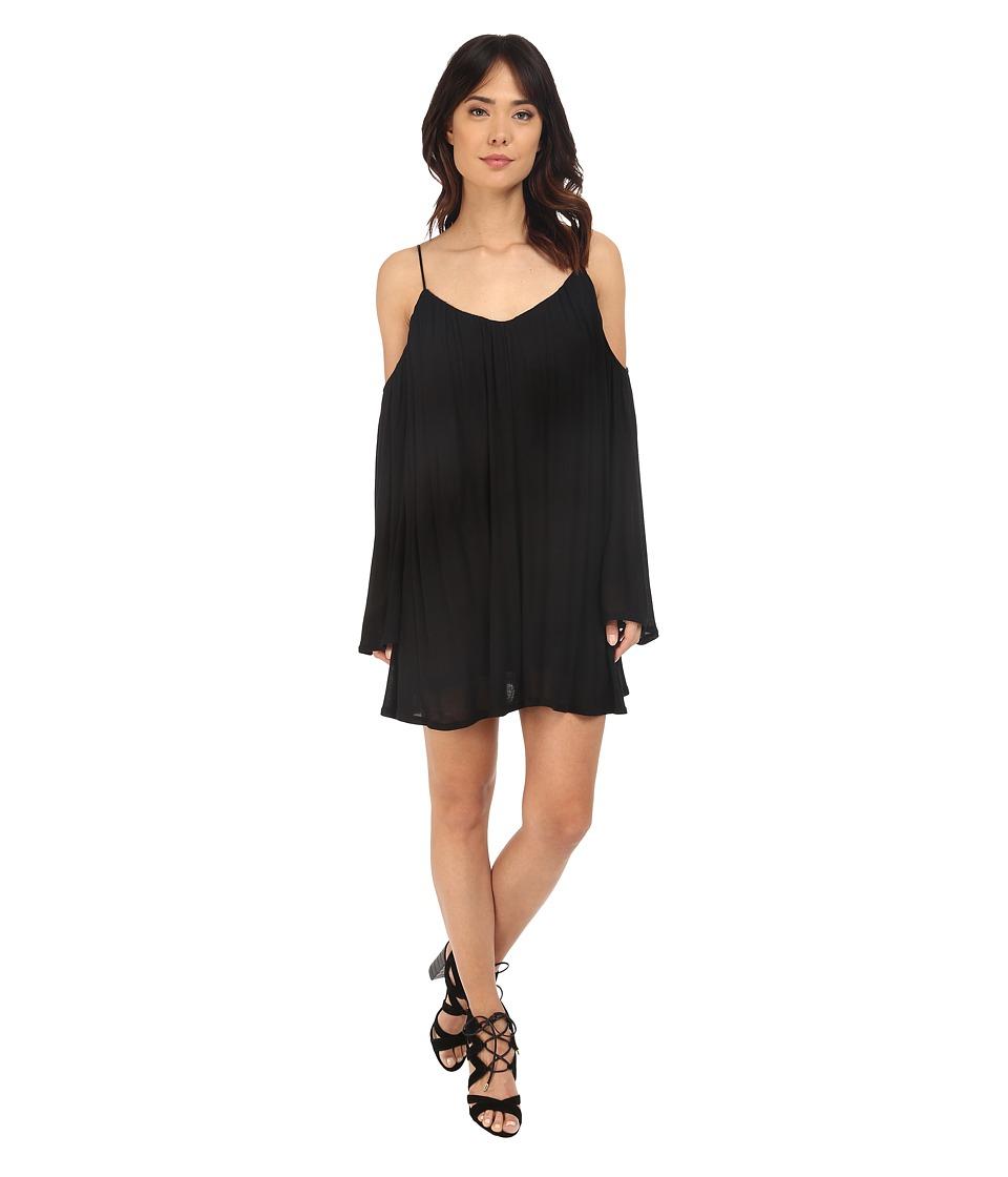Brigitte Bailey Ava Cold Shoulder Long Sleeve Dress Black Womens Dress