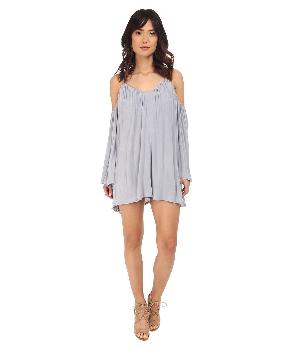Brigitte Bailey Ava Cold Shoulder Long Sleeve Dress Dusty Blue Womens Dress