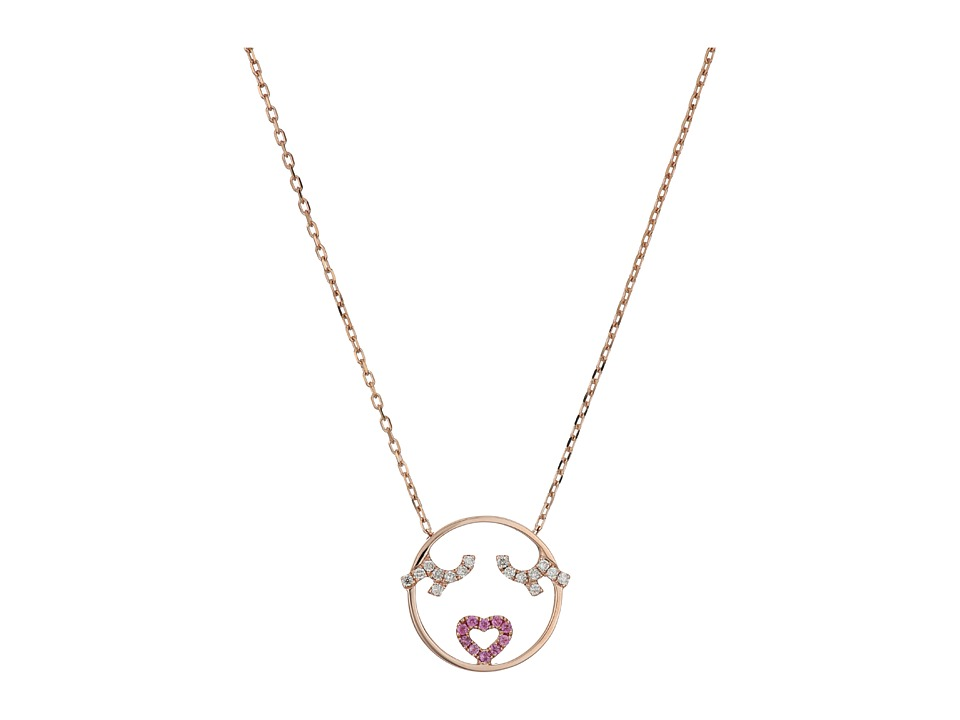 RUIFIER Flutter Eyes Necklace 9ct Rose Gold Necklace