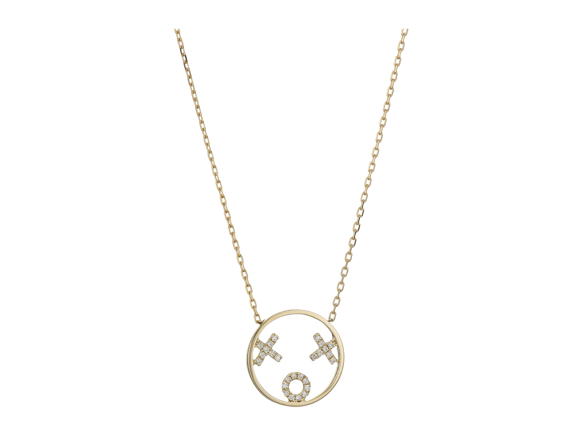 ruifier xoxo necklace 9ct yellow gold zappos free