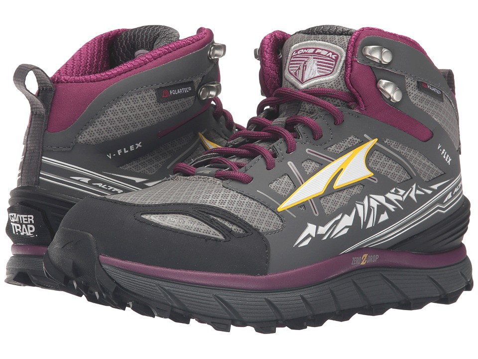 Altra Footwear - Lone Peak 3 Mid Neoshell (Gray/Purple) Womens Shoes
