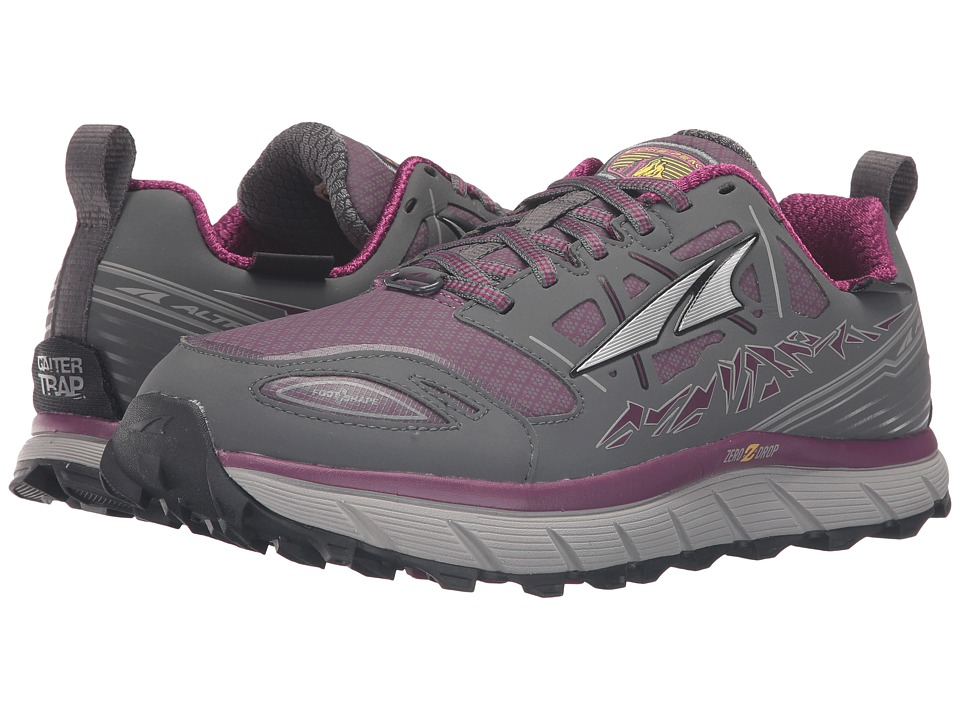Altra Footwear - Lone Peak 3 Neoshell (Gray/Purple) Womens Shoes