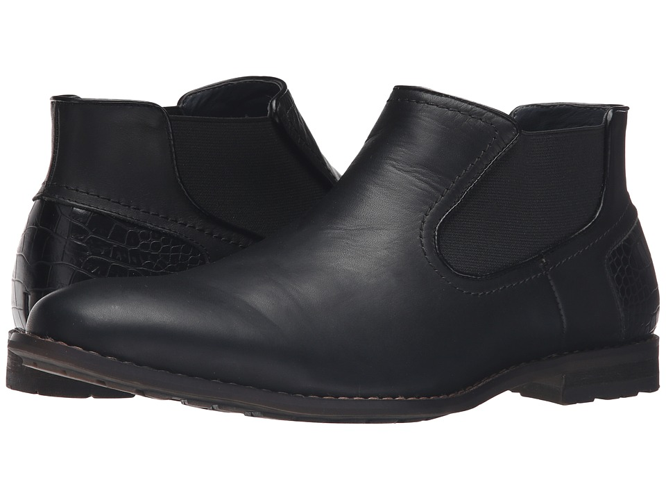 Steve Madden - Kelen (Black Leather) Men