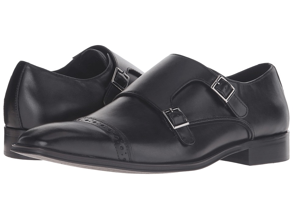 Steve Madden Cajole (Black Leather) Men