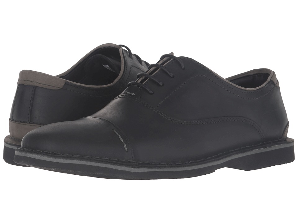 Steve Madden - Lernerr (Black Leather) Men