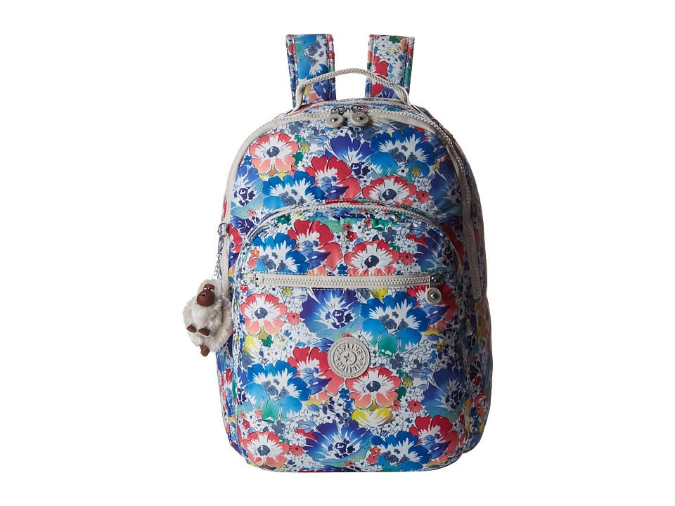 Kipling Seoul Backpack with Laptop Protection In Bloom Backpack Bags