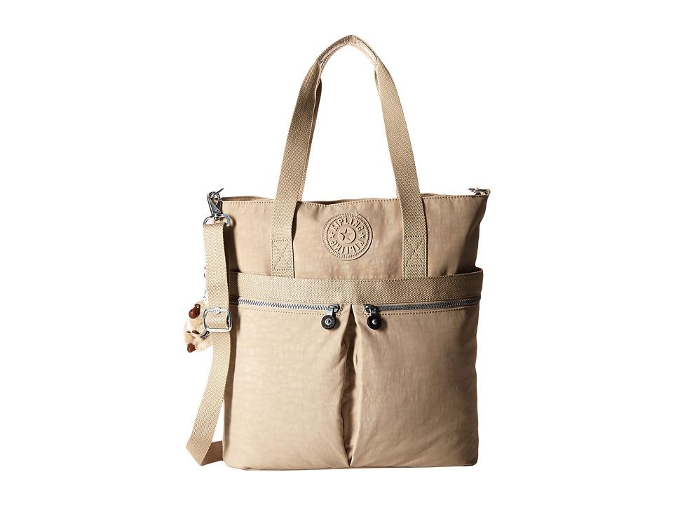 Kipling Pammie Tote Sandcastle Tote Handbags
