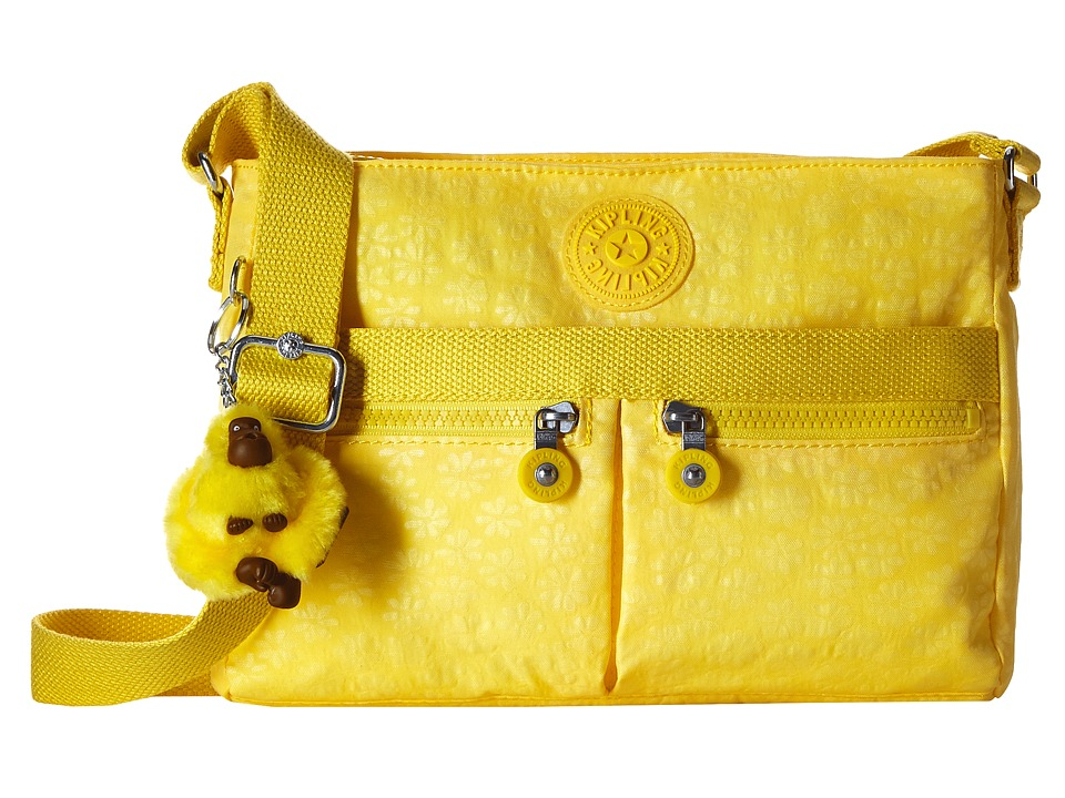 Kipling Angie Pineapple Embossed Daisies Handbags