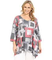 Nally & Millie - Plus Size Geo Tunic