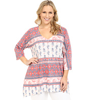 Nally & Millie - Plus Size Border Tunic