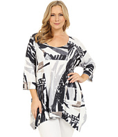 Nally & Millie - Plus Size Color Block Tunic