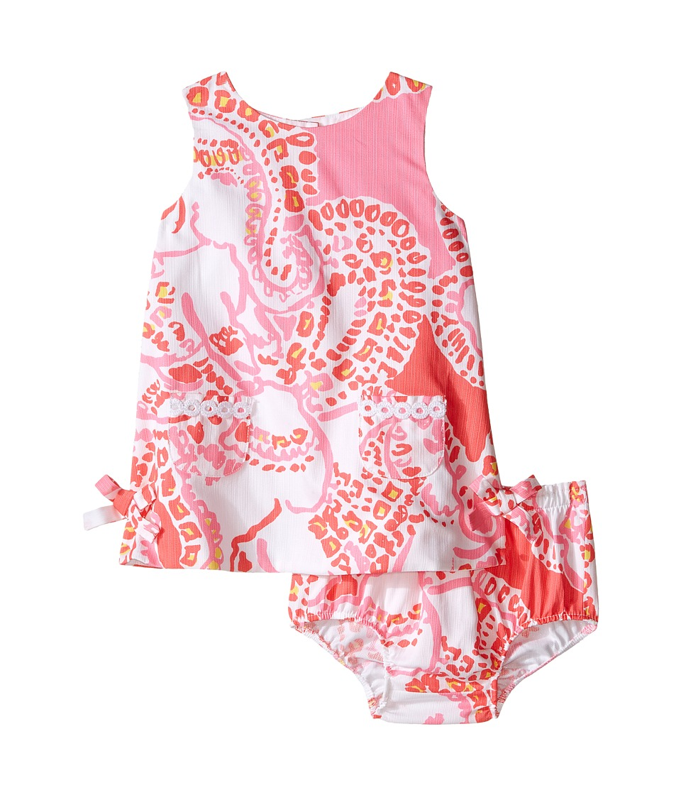 Lilly Pulitzer Kids Baby Lilly Shift Infant Hot Coral Trunk In Love Girls Dress