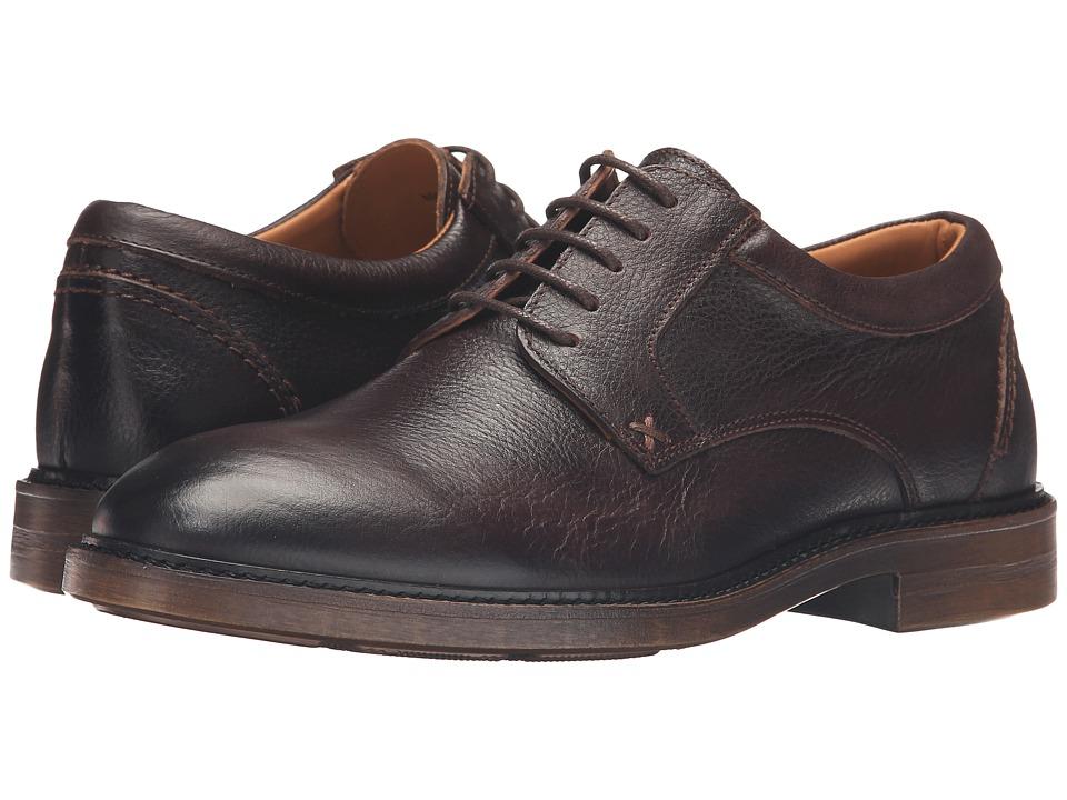 Sebago Bryant Lace-Up (Dark Brown Pebbled Leather) Men