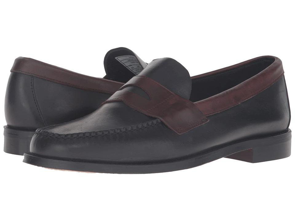 Sebago Heritage Penny (Black/Brown Oiled Waxy Leather) Men