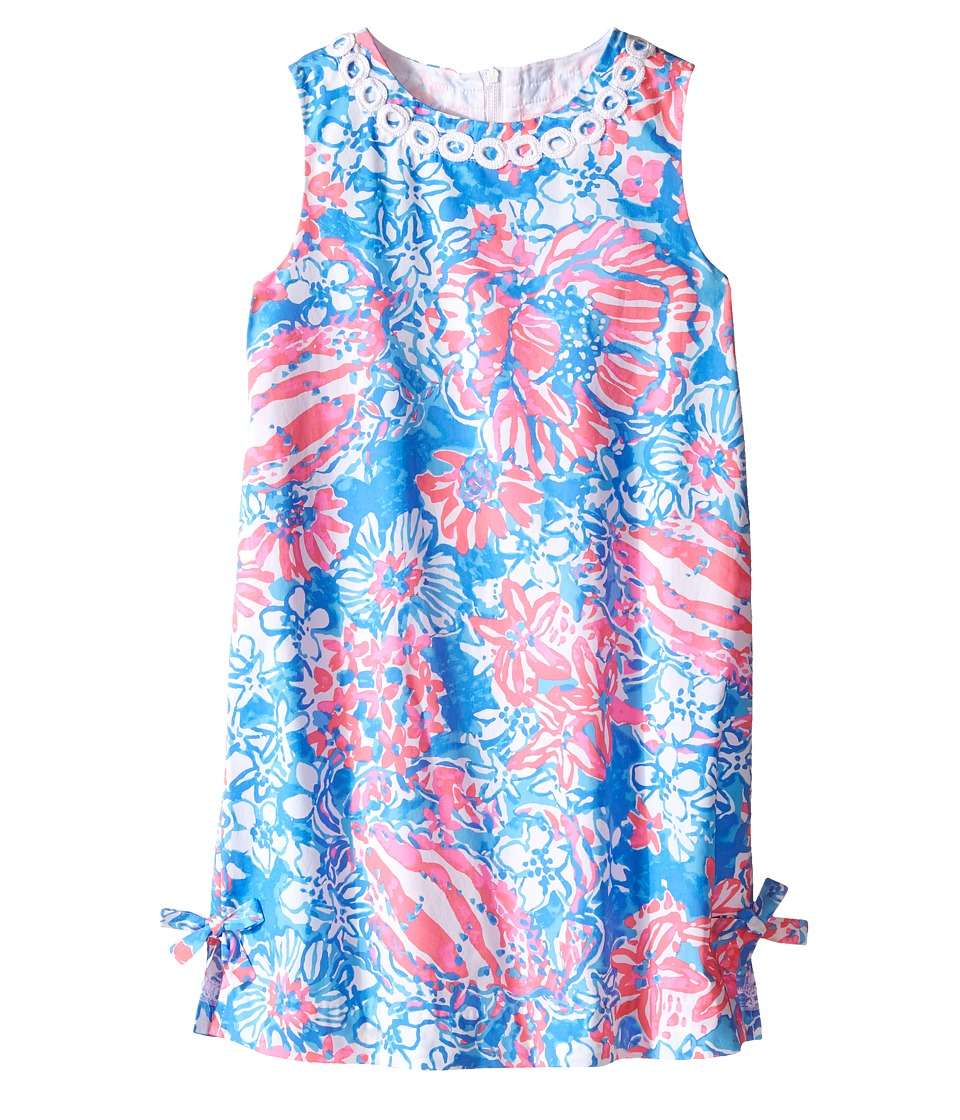 Lilly Pulitzer Kids Little Lilly Classic Shift Toddler/Little Kids/Big Kids Bay Blue Pop Pop Glow Girls Dress
