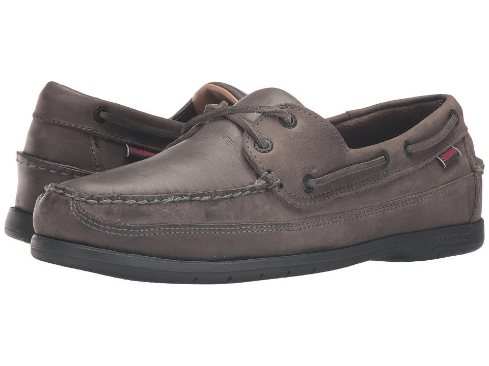 Sebago - Schooner (Dark Grey Tumbled Leather) Men